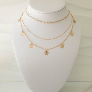 Jewelry - Filigree Charm Multi-Strand Necklace